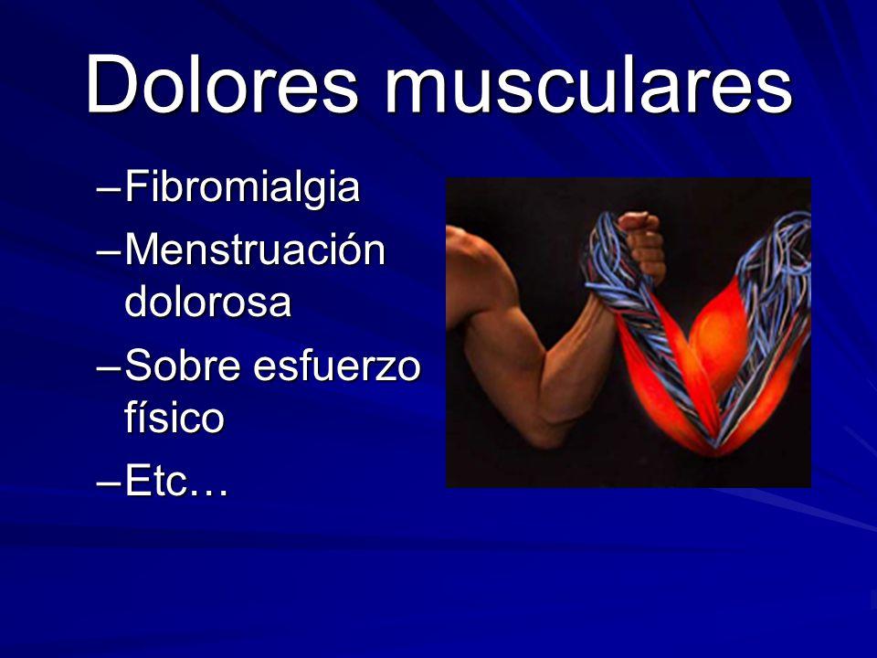 Dolores musculares Fibromialgia Menstruación dolorosa
