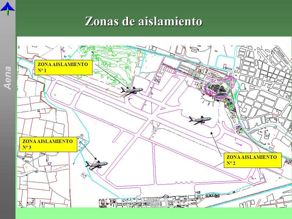 Zonas de aislamiento ZONA AISLAMIENTO Nº 1 ZONA AISLAMIENTO Nº 3