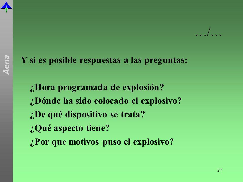 …/… Y si es posible respuestas a las preguntas: