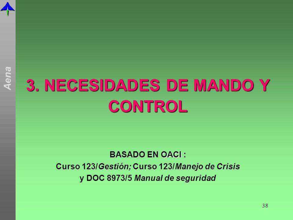 3. NECESIDADES DE MANDO Y CONTROL
