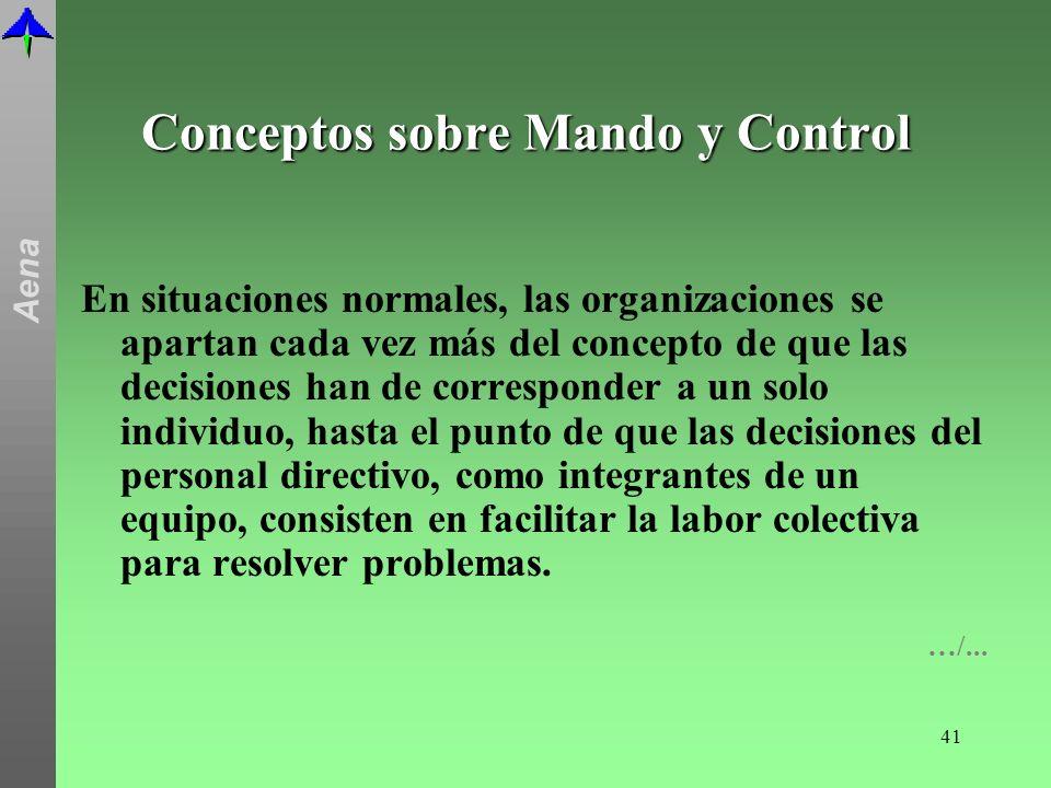 Conceptos sobre Mando y Control
