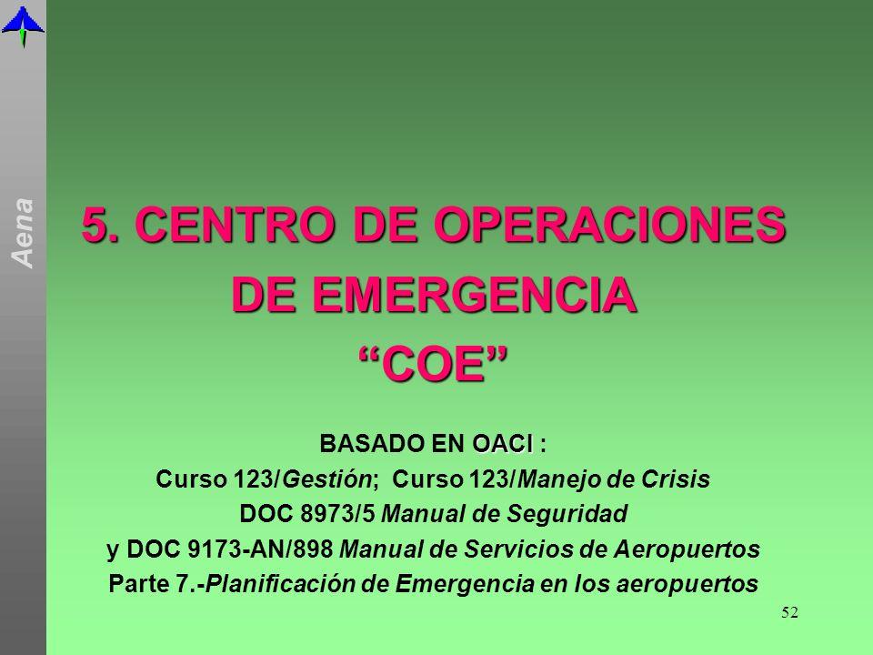 5. CENTRO DE OPERACIONES DE EMERGENCIA COE