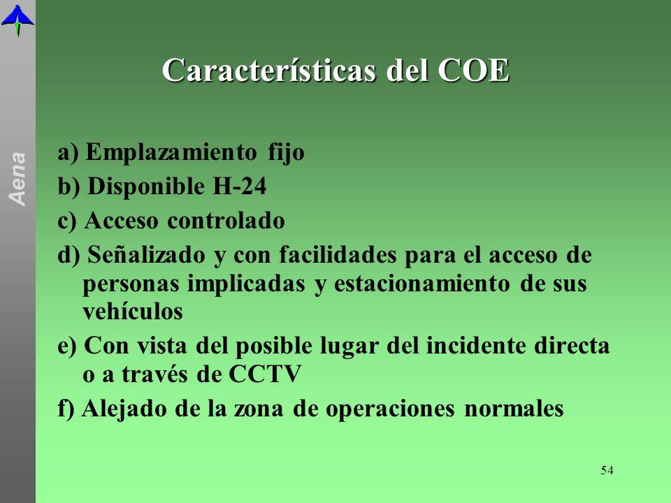 Características del COE