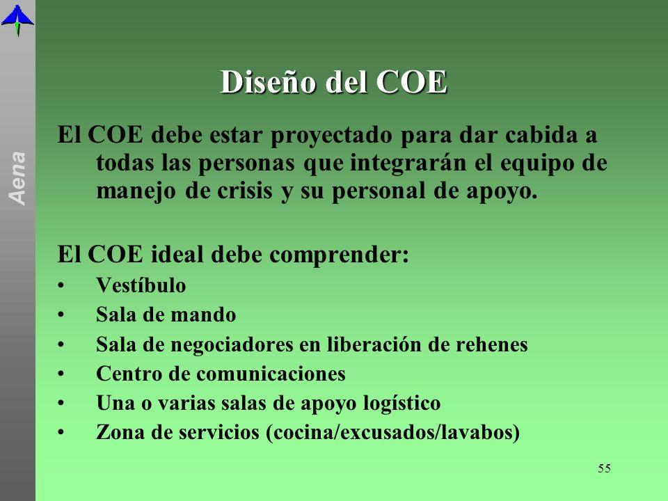 Diseño del COE El COE debe estar proyectado para dar cabida a todas las personas que integrarán el equipo de manejo de crisis y su personal de apoyo.