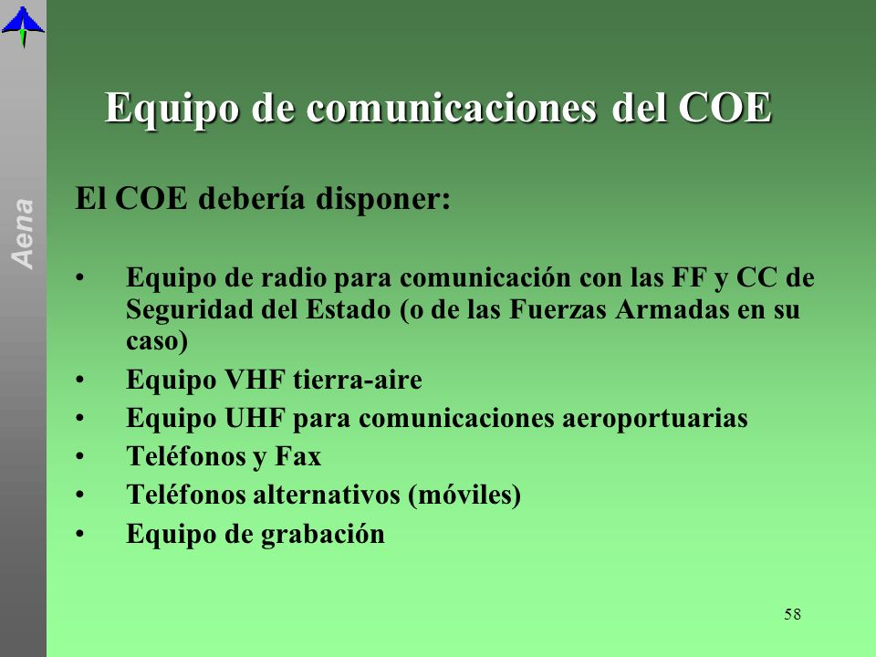 Equipo de comunicaciones del COE