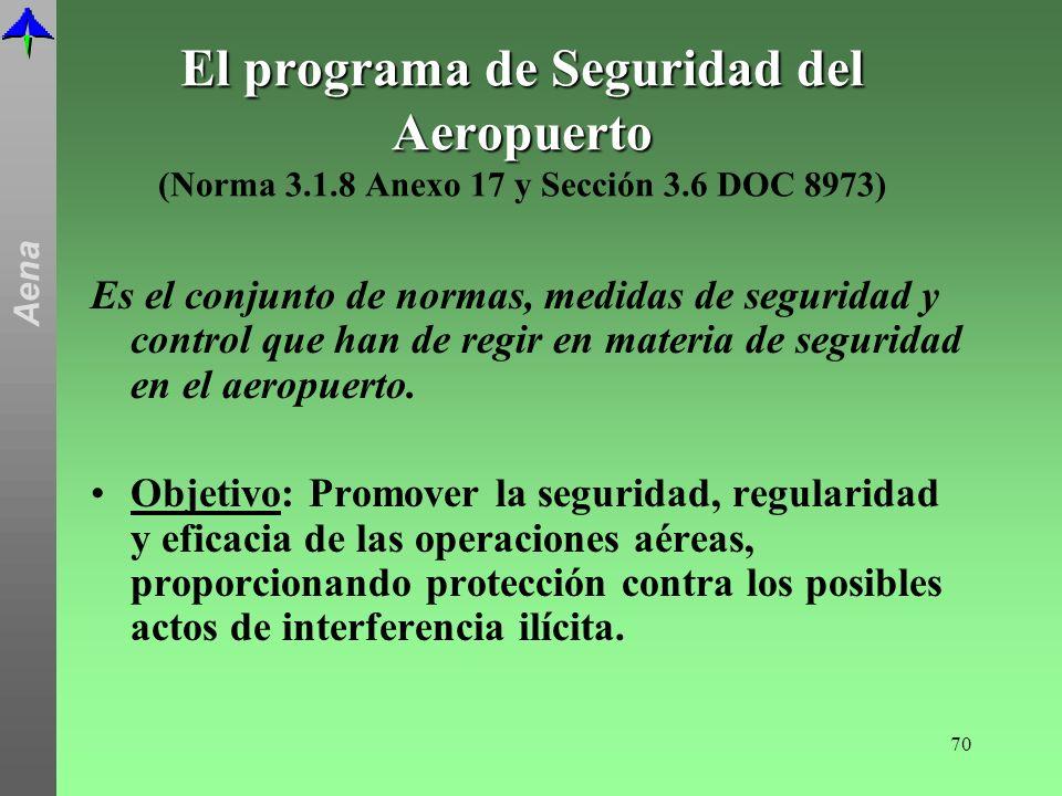 El programa de Seguridad del Aeropuerto (Norma 3. 1