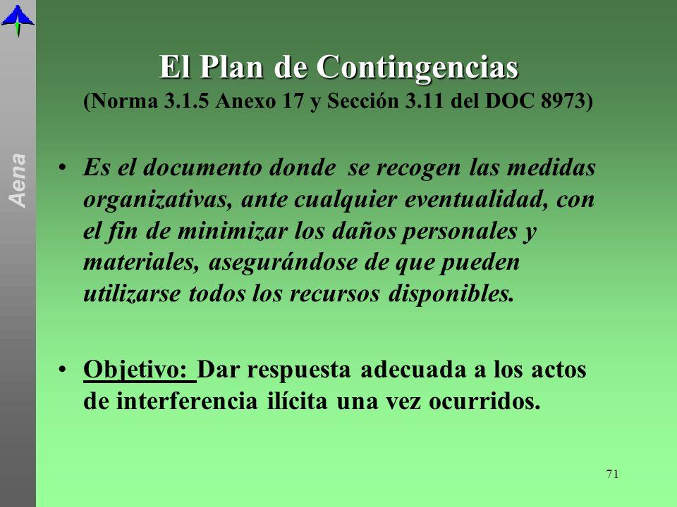 El Plan de Contingencias (Norma 3. 1. 5 Anexo 17 y Sección 3