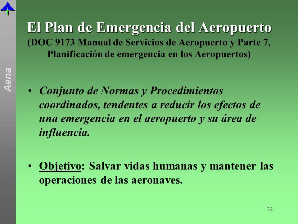El Plan de Emergencia del Aeropuerto (DOC 9173 Manual de Servicios de Aeropuerto y Parte 7, Planificación de emergencia en los Aeropuertos)