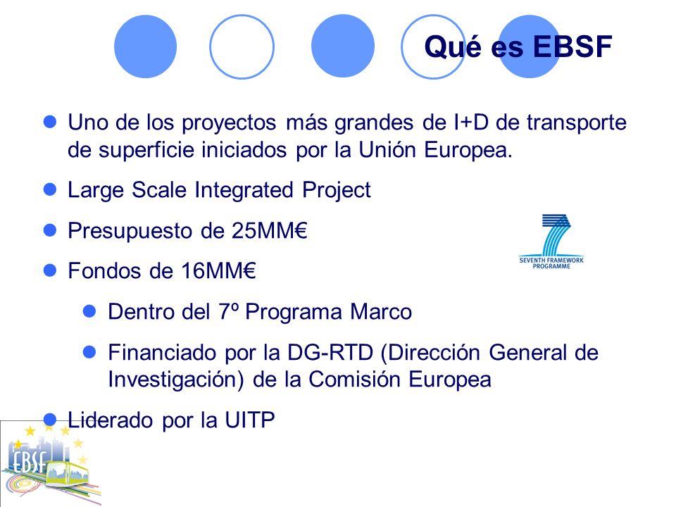 Qué es EBSF Uno de los proyectos más grandes de I+D de transporte de superficie iniciados por la Unión Europea.