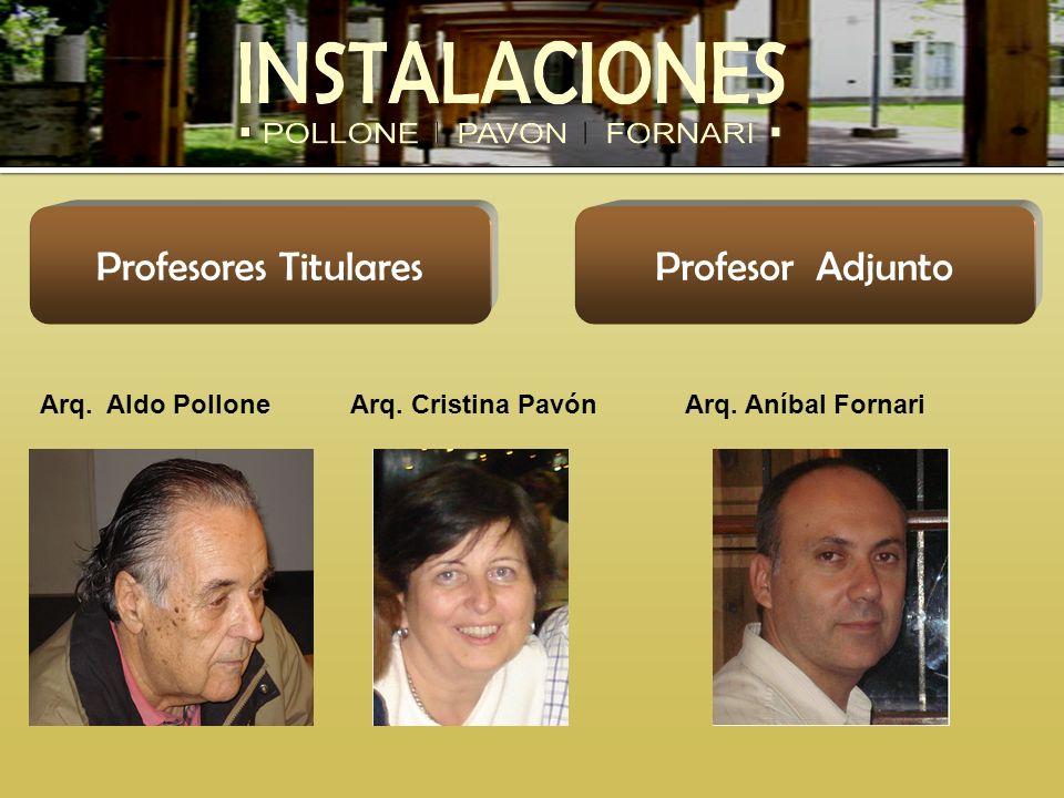 Profesores Titulares Profesor Adjunto Arq. Aldo Pollone