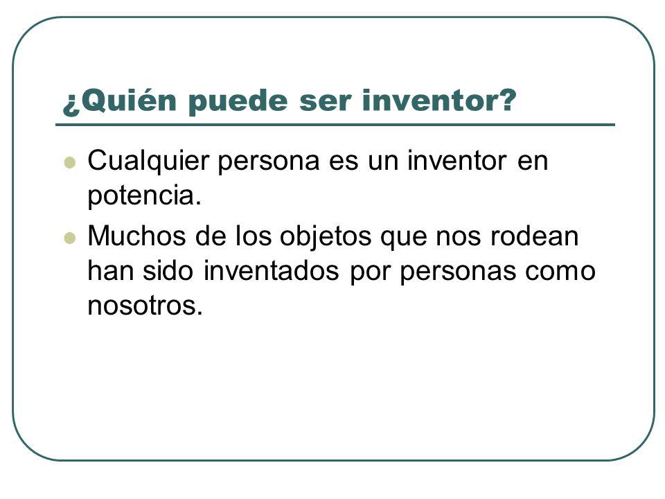 ¿Quién puede ser inventor