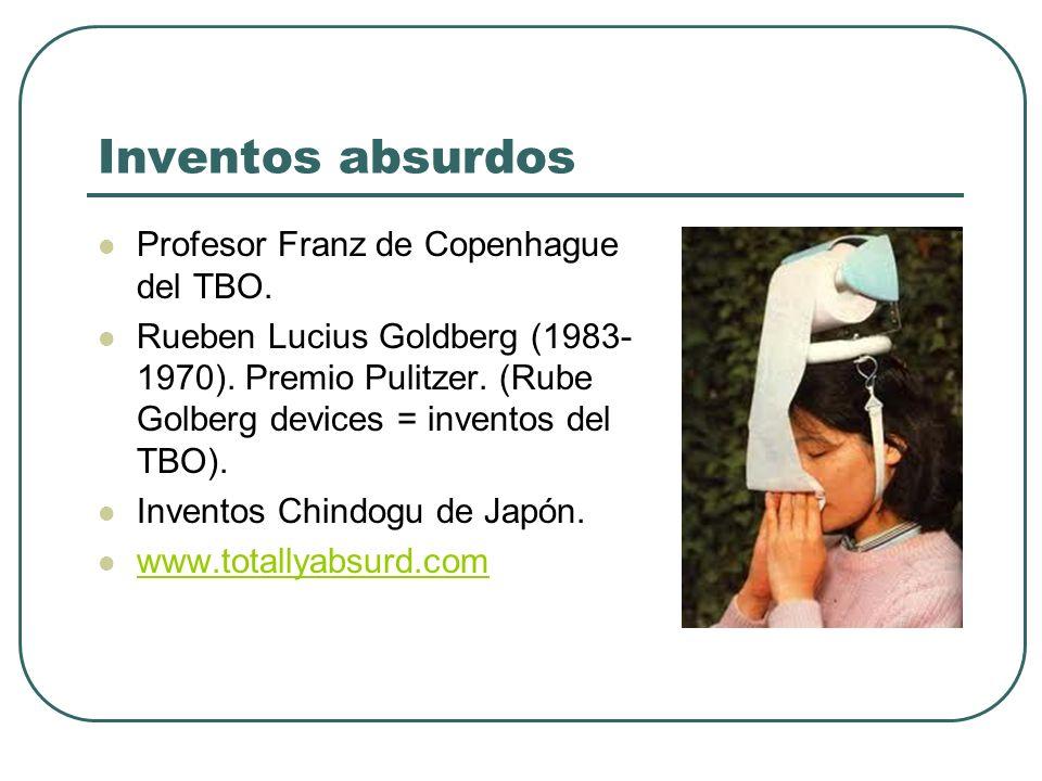 Inventos absurdos Profesor Franz de Copenhague del TBO.