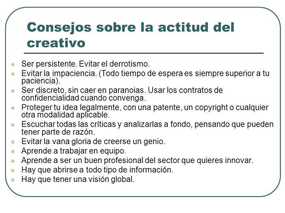 Consejos sobre la actitud del creativo