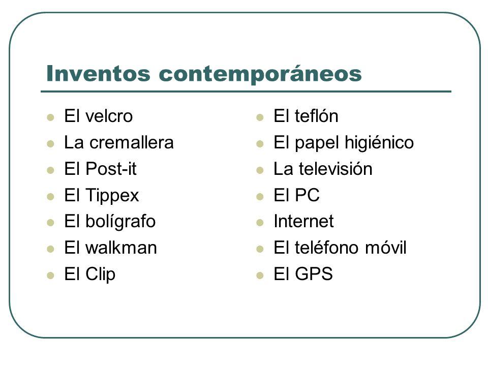Inventos contemporáneos
