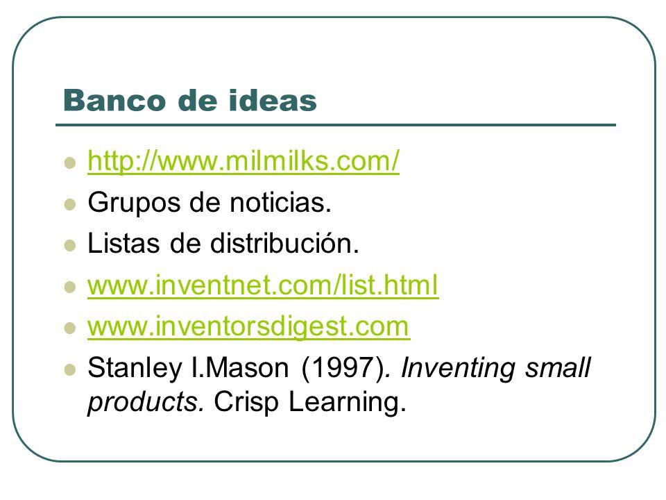 Banco de ideas http://www.milmilks.com/ Grupos de noticias.