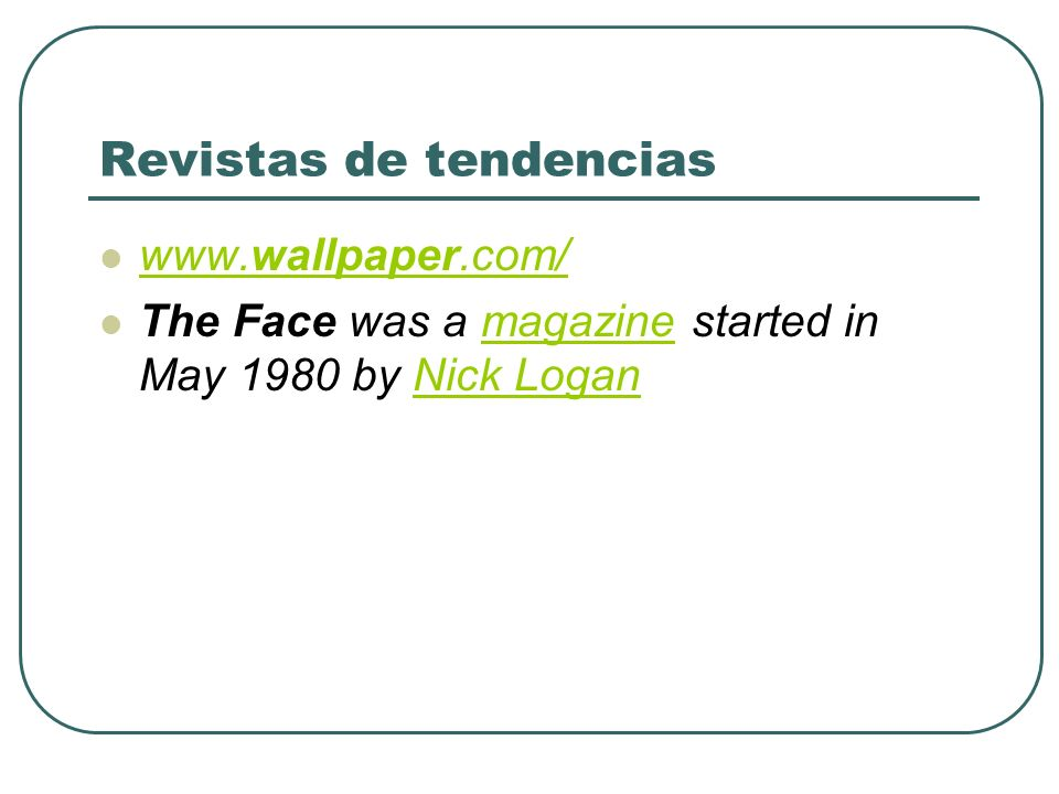 Revistas de tendencias