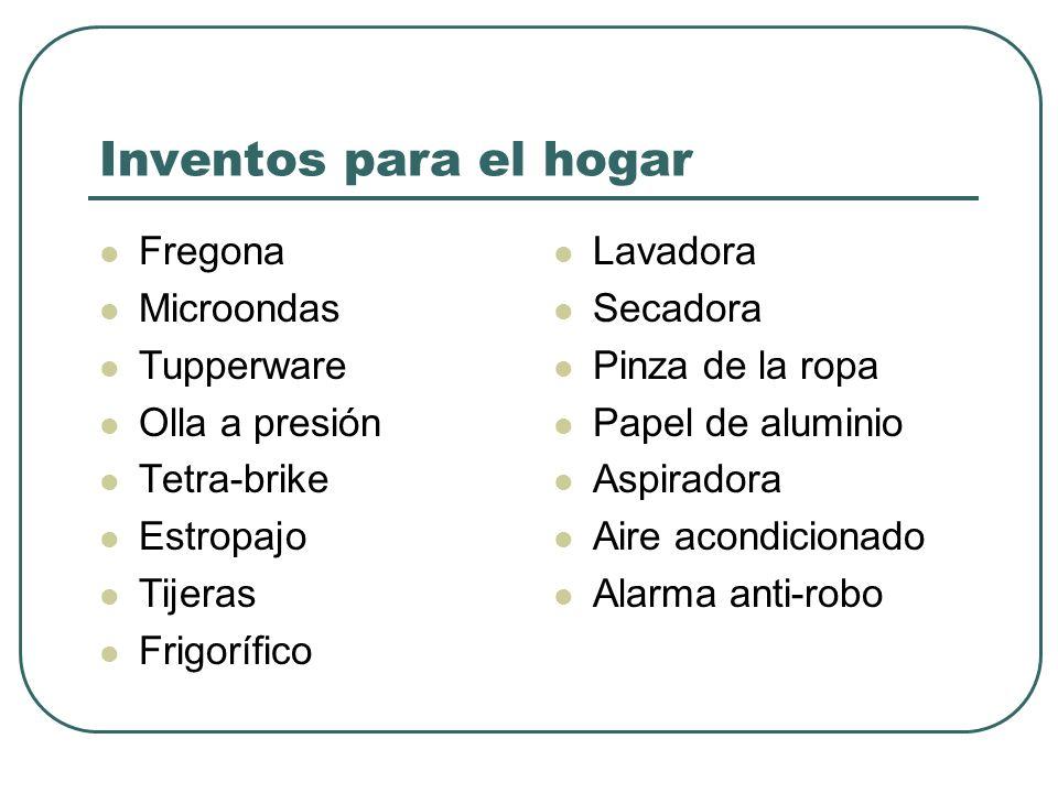 Inventos para el hogar Fregona Microondas Tupperware Olla a presión