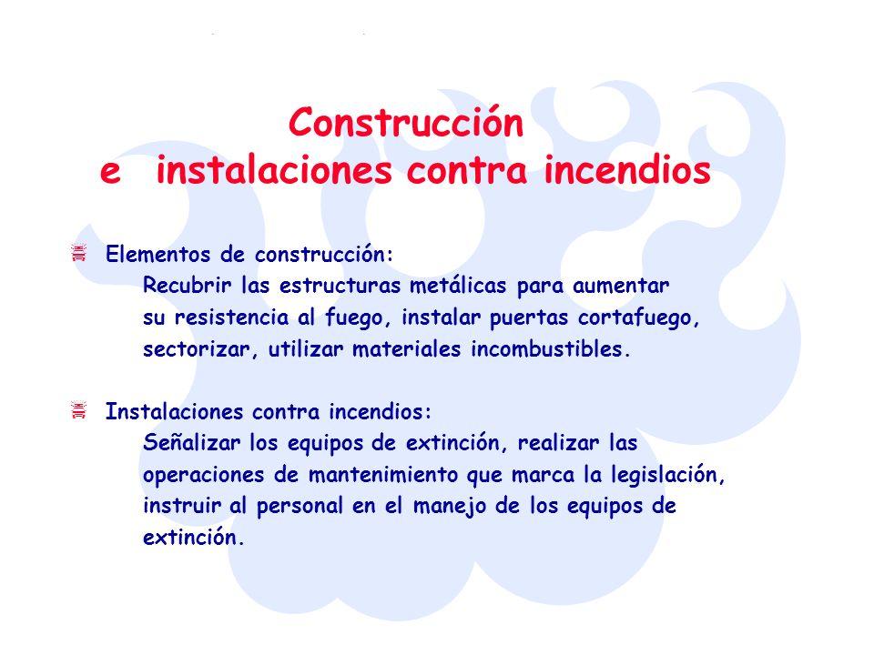 Construcción e instalaciones contra incendios