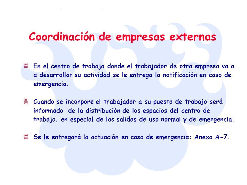 Coordinación de empresas externas