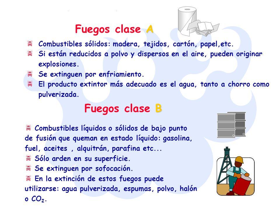 Fuegos clase A Fuegos clase B