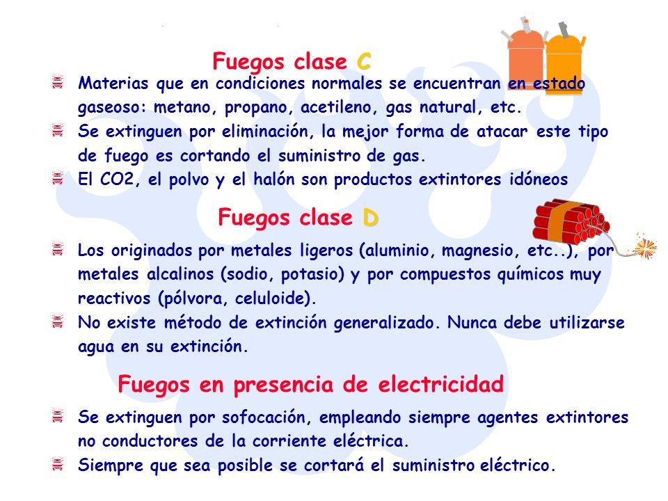 Fuegos en presencia de electricidad