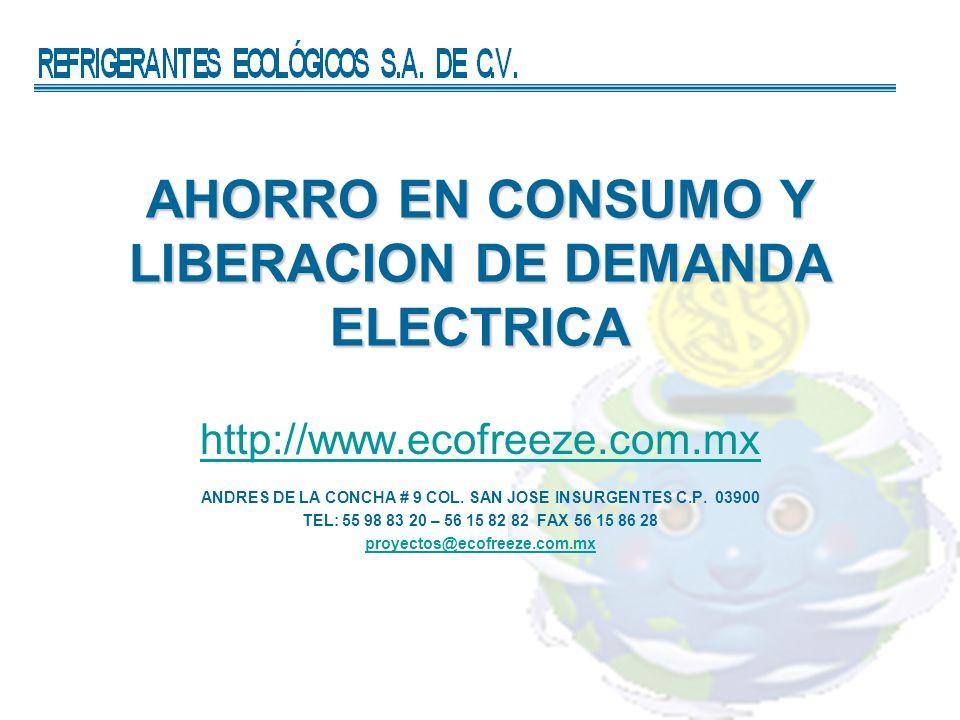 AHORRO EN CONSUMO Y LIBERACION DE DEMANDA ELECTRICA