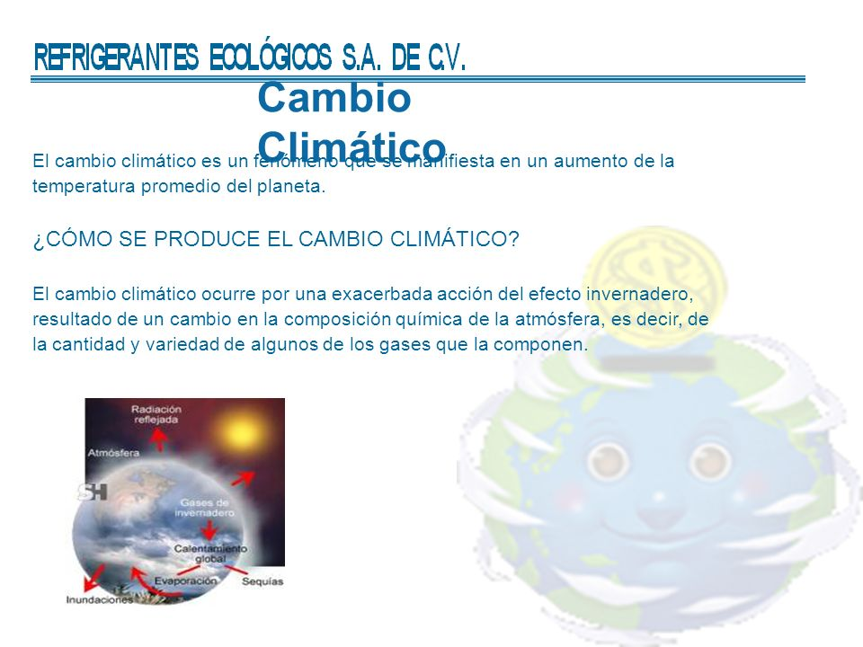 Cambio Climático ¿CÓMO SE PRODUCE EL CAMBIO CLIMÁTICO
