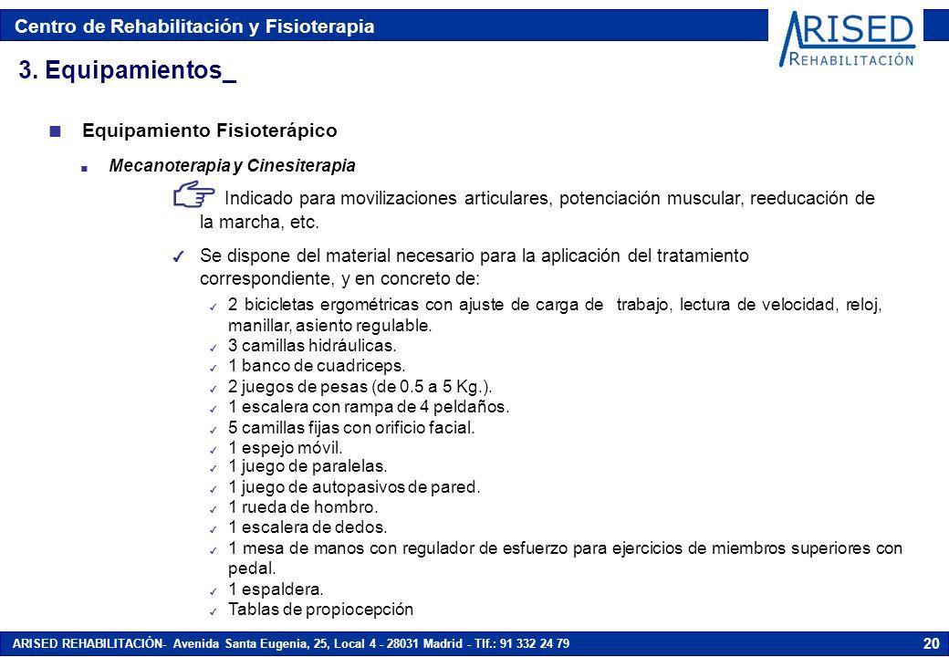 3. Equipamientos_ Equipamiento Fisioterápico