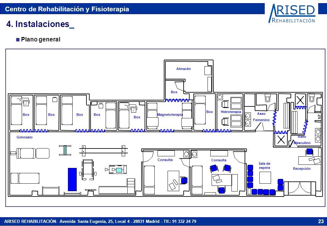 4. Instalaciones_ . Plano general Almacén Hidroterapia Magnetoterapia