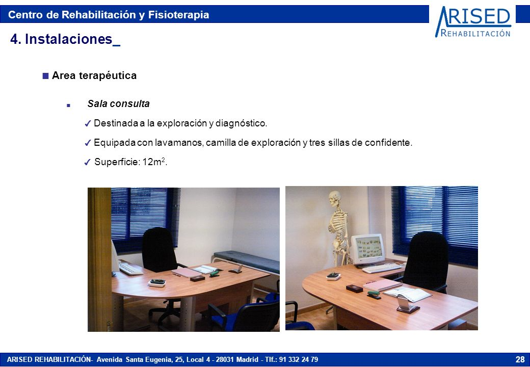 4. Instalaciones_ Area terapéutica Sala consulta