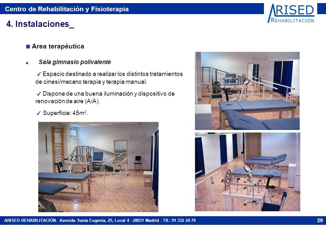 4. Instalaciones_ Area terapéutica Sala gimnasio polivalente