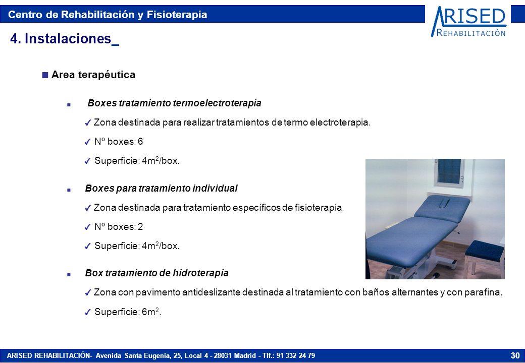 4. Instalaciones_ Area terapéutica