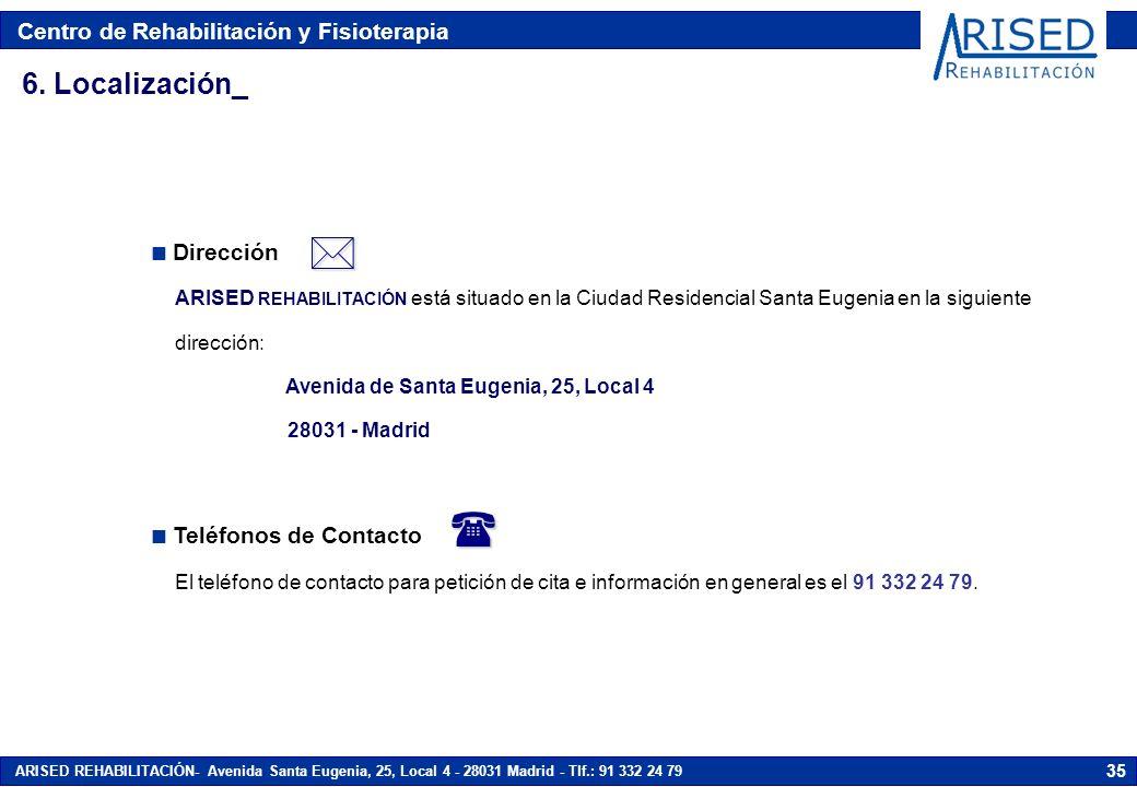   6. Localización_ Dirección Teléfonos de Contacto