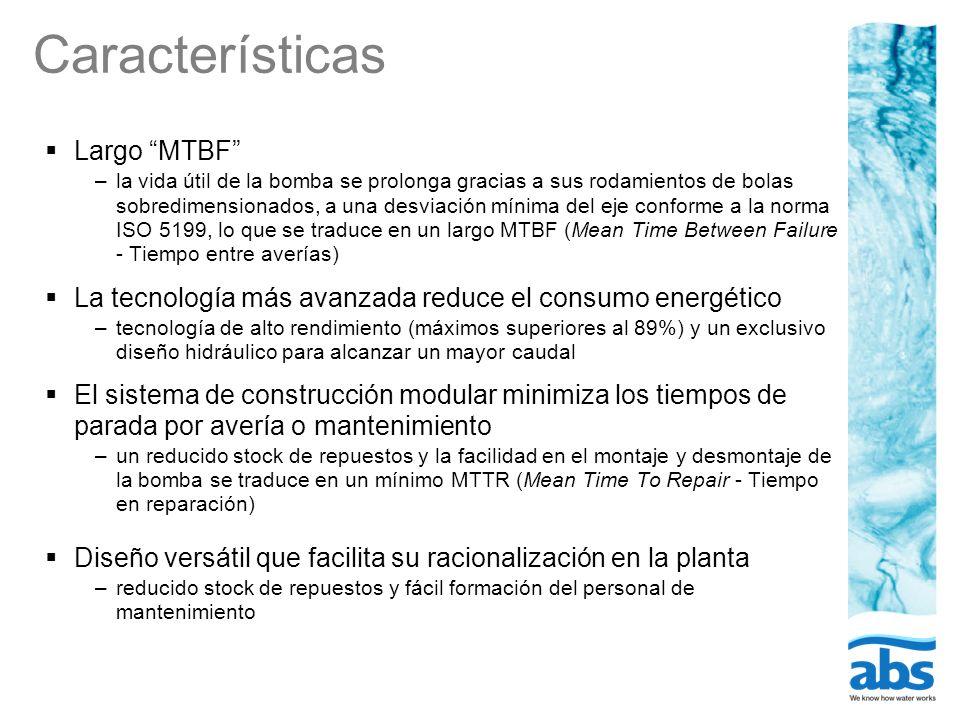 Características Largo MTBF