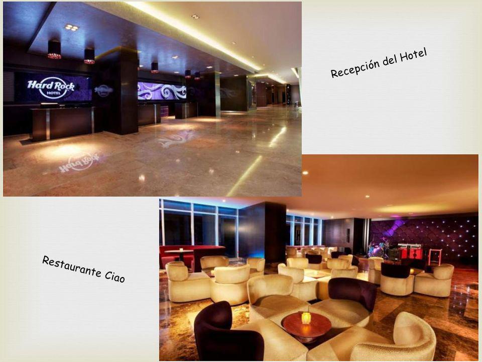 Recepción del Hotel Restaurante Ciao