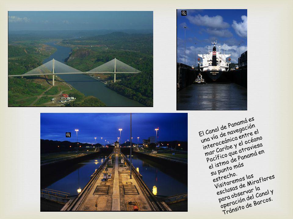 El Canal de Panamá es una vía de navegación interoceánica entre el mar Caribe y el océano Pacífico que atraviesa el istmo de Panamá en su punto más estrecho.