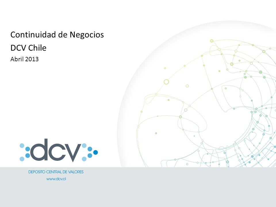 Continuidad de Negocios DCV Chile