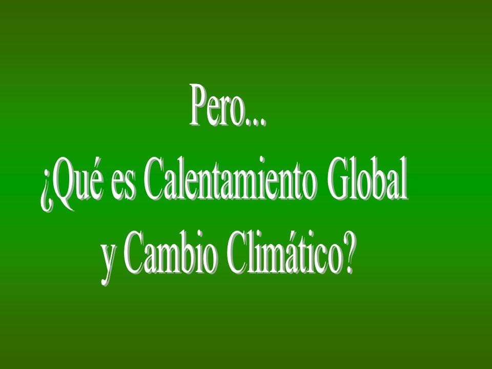 ¿Qué es Calentamiento Global
