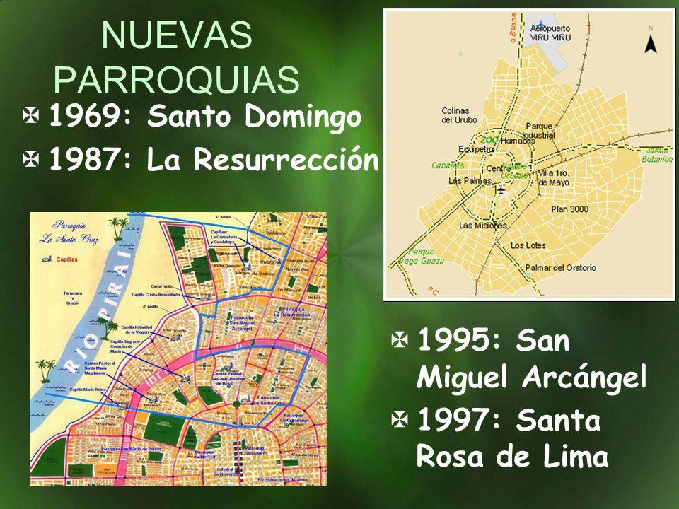 NUEVAS PARROQUIAS 1969: Santo Domingo 1987: La Resurrección
