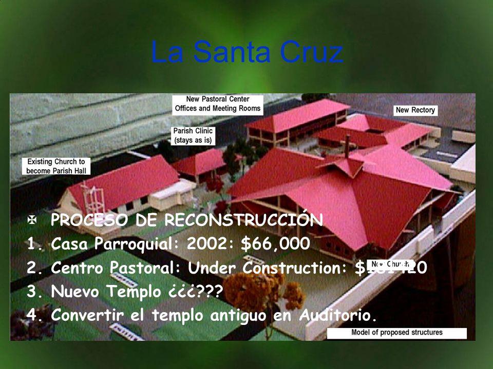 La Santa Cruz PROCESO DE RECONSTRUCCIÓN Casa Parroquial: 2002: $66,000