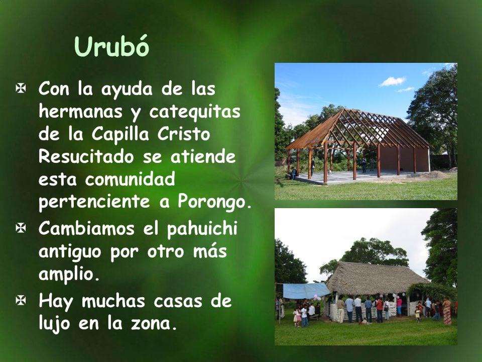 Urubó Con la ayuda de las hermanas y catequitas de la Capilla Cristo Resucitado se atiende esta comunidad pertenciente a Porongo.