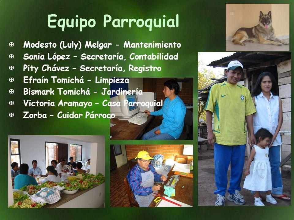 Equipo Parroquial Modesto (Luly) Melgar - Mantenimiento