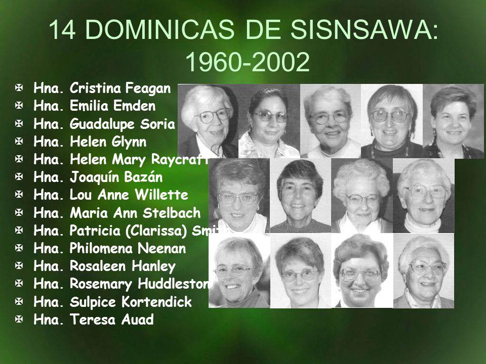 14 DOMINICAS DE SISNSAWA: 1960-2002
