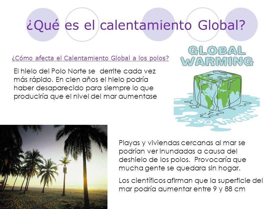 ¿Qué es el calentamiento Global