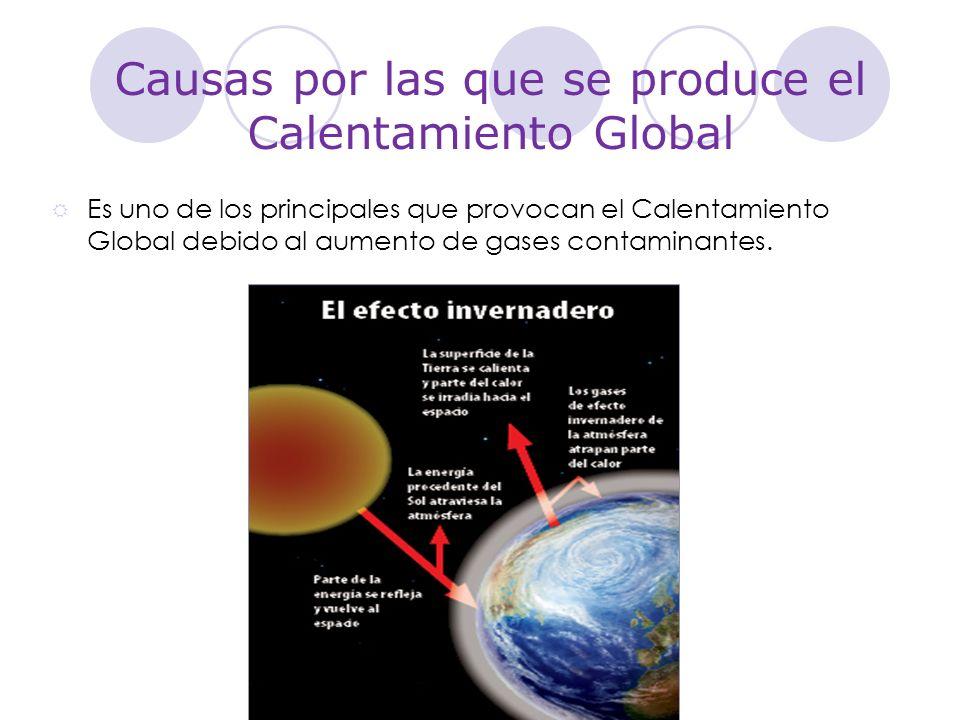 Causas por las que se produce el Calentamiento Global