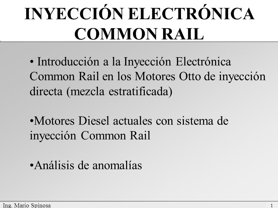 INYECCIÓN ELECTRÓNICA COMMON RAIL