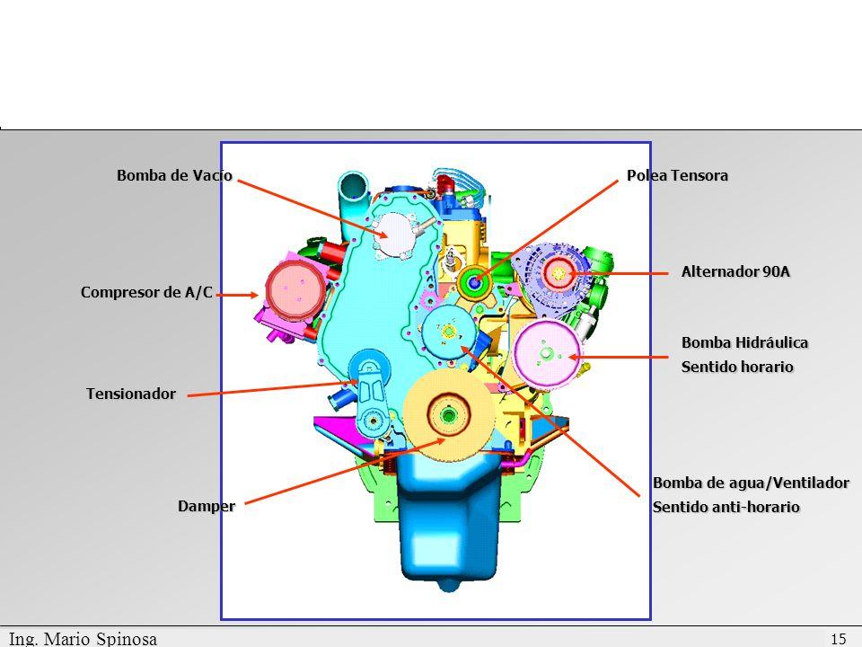 Ing. Mario Spinosa Bomba de Vacío Polea Tensora Alternador 90A