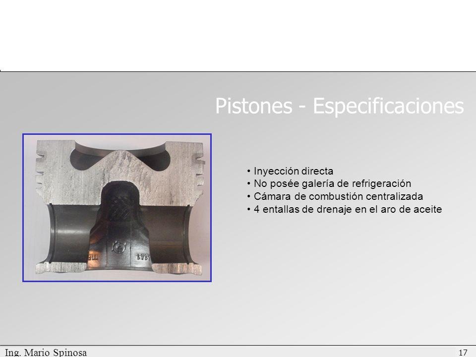 Pistones - Especificaciones