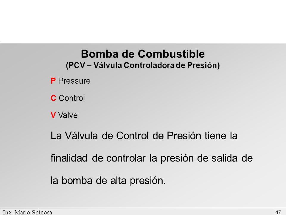 (PCV – Válvula Controladora de Presión)