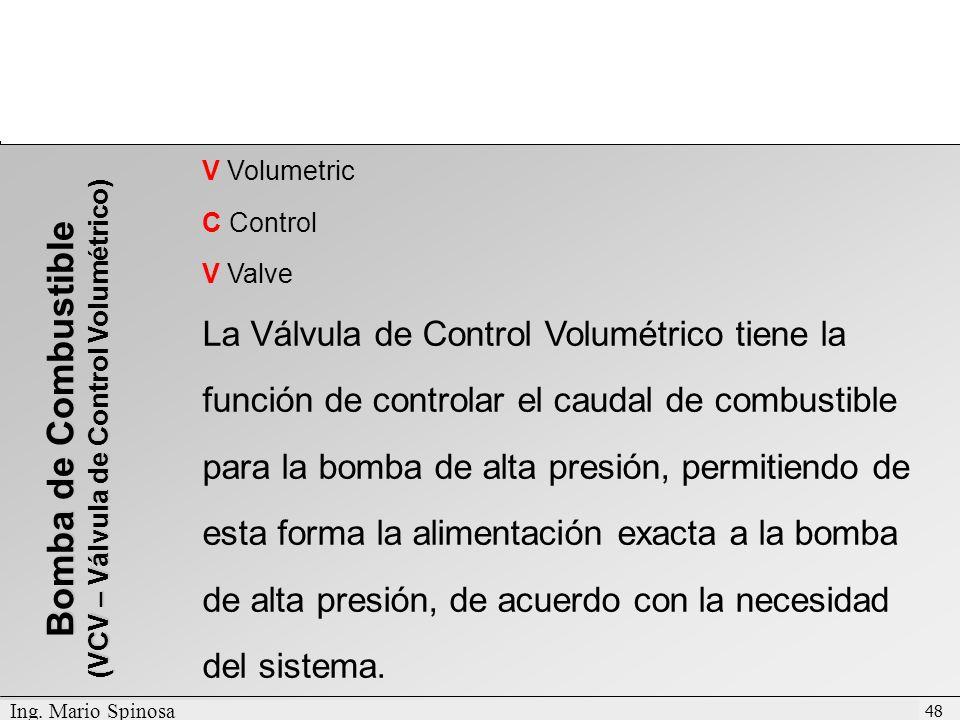 (VCV – Válvula de Control Volumétrico)